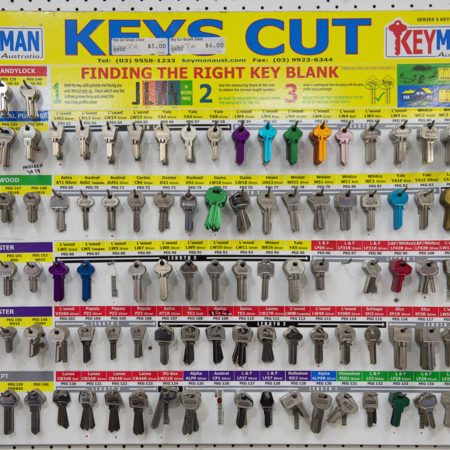 Key cutting and hardware supplies in Drysdale